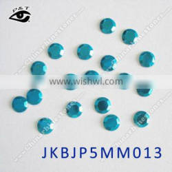 Hot fix Rhinestud Octagon 5MM Peacock blue color studs for clothing