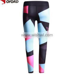 China female compression colorful fitness wear