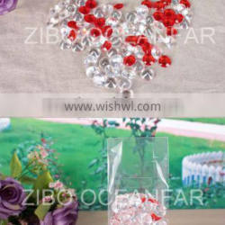 Diamond shape plastic beads for home decoration