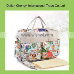 Tactical qualified non-toxic flower printing non-woven mommy bag