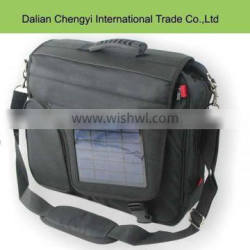 Casual 1680D laptop messenger bag with solar panel