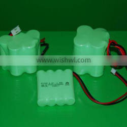 4.8V 6.0V AA size SC size NiMh rechargeable battery pack