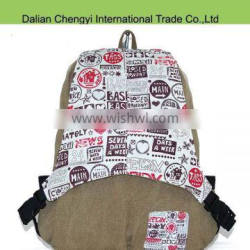 2015 chic bags factory customized canvas backpack