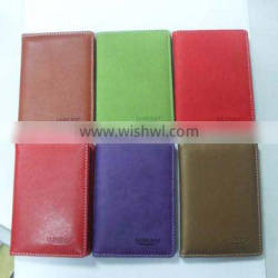 2015 Custom PU leather passport holder,leather Passport holder simple design leather wallet OEM made in China