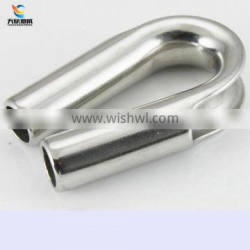 High Polished Stainless Steel AISI 316 wire rope thimble