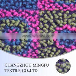 wool and polyester fabric embossed fleece fabric for women coat and funiture