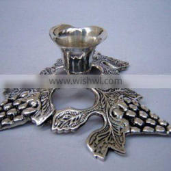 Brass Silver Pewter Laquered CANDLE HOLDER