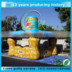 Special design inflatable tent with inflatable bottom for sale