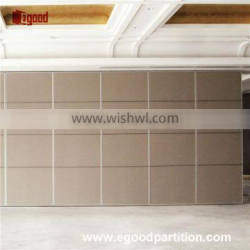 Folding with top hung roller soundproof partition wall