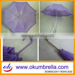 2012 cute purple straight umbrella with long handle for women