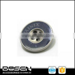 Fashion high quality engraved logo metal four holes sewing button /garment accessories