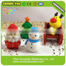 New Arrival Cute Rubber 3D Shaped Christmas Scented Eraser Quality Choice