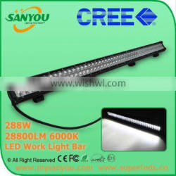 2015 Sanyou 288W 28800lm 6000k LED Auto Work Light Bar, 36inch led light bar for offroad, Jeep, SUV