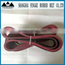 Red Rubber Coating Black Flat Belts(Section 2000x70x6)