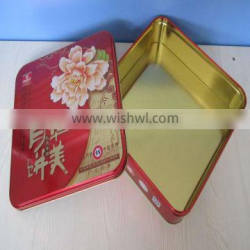 metal gift box standard tin can sizes tinplate material square tin boxes