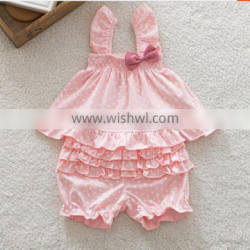 baby cotton strap clothing set infant bloomer sets pants sleeveless top toddlers 2pcs sets baby girls clothes,child shorts wear