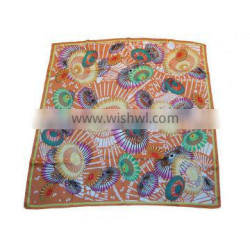 Geometric Painting Silk Foulard Scarf for Lady