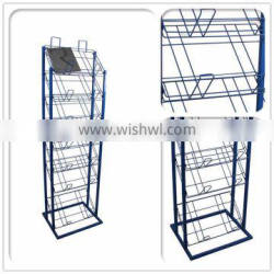 Custom Design Powder Coated Metal Wire Display Stand for supermarket