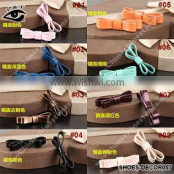 Different Colors Patent Leather Bowknot For Shoe Decorations