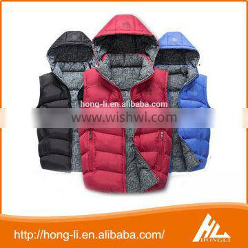 New style 100% polyester outdoor ultralight childern down vest for winter