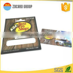 Custom Full Color Plastic PVC Card sticked on Paper Carrier