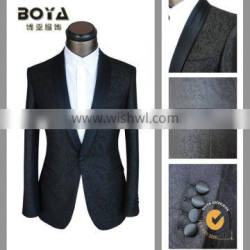 2015 fitted jacquard wedding blazer for men , tuxedo suits for man
