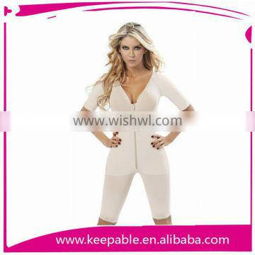 2015 hot selling long sleeve body shaper corset with pants with leggings