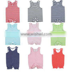 2016 Baby Club Clothes High Quality Baby Stripe Romper New Born Baby Wear New Born Baby Short Romper