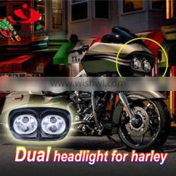"""Harley accessories double led headlights ,hi/low 7"""" daul headlight for Harley Daymaker Road Glide"""