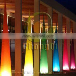2014 lighting inflatable cone for decoration
