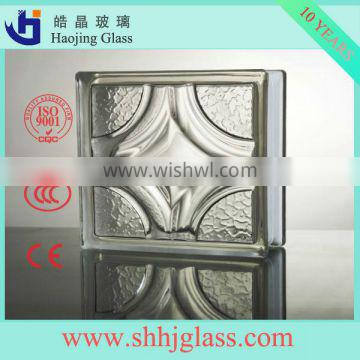 Green Cloudy glass block made in China