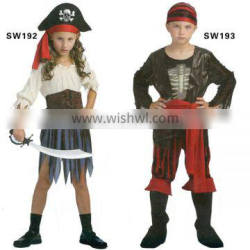 Factory hot sale pirate costume for kids