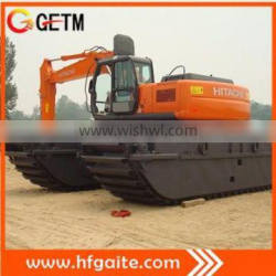 amphibious excavator for Deepening of canal, river