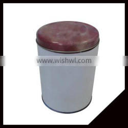 Promotional Lovely Stock Round Tin Metal Tea Tin Box With High Quality