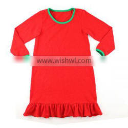2016 kaiyo wholesale baby frock design pictures Christmas red ruffle dress kids clothing wholesale boutique girl clothing