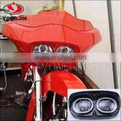 6000K Dual LED Headlight Assembly for Harley-Davidson Road Glide High / Low Beam