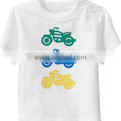 BABY T SHIRT WITH SHOULDER SNAP OPEN