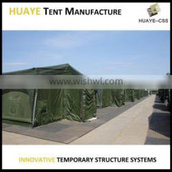 Rapid deployment medical army tent made of aluminium frame structure to fulfil multiple functions