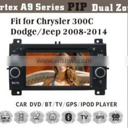 """6.2"""" HD 1080P BT TV GPS IPOD Fit for Chrysler 300C/Jeep/dodge2005-2007 car audio player with gps"""