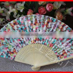 Popular Gift Bamboo Hand Fan With Fabric