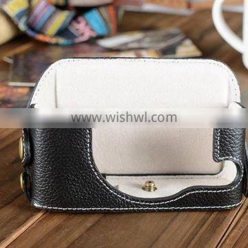 Factory competitive price fancy mini leather Camera Bag in Dongguan