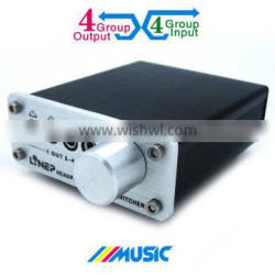 Newest Aluminum A985 4 ports Audio signal switch headphone switcher