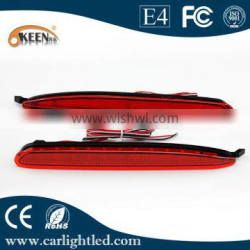 Red LED Rear Bumper Reflectors With led Tail Brake Light Parking Warning Lamp For Mazda 6