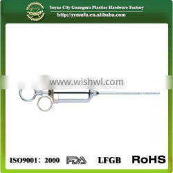 Stainless Steel Meat Injector Kit with 2oz Large Capacity Barrel and 2 Professional Marinade Needles