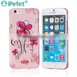 New arrival flower water printing hard PC phone case for iPhone 6 custom pc case wholesale