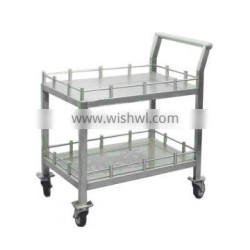 professional transport trolley stainless steel food transport trolley with drawers