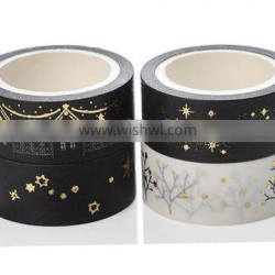 1.5cm*5m hot stamping washi tape planner accessories paper tape can be teared by hand