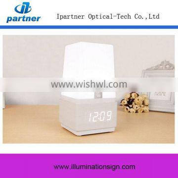 LED Touch Sensor Desk Lamp With Clock