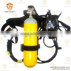 Industrial self contained breathing apparatus SCBA 6L steel cylinder EN137 Ayonsafety
