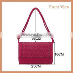 Boutique Red PU Shoulder Bag